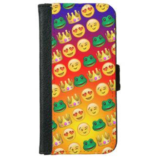 Frog & Princess Emojis Pattern iPhone 6 Wallet Case