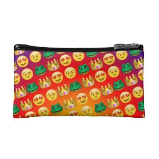 Frog & Princess Emojis Pattern Makeup Bag