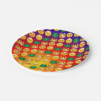 Frog & Princess Emojis Pattern Paper Plate