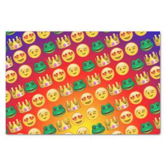 Frog & Princess Emojis Pattern Tissue Paper