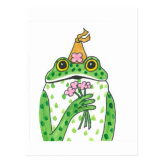 FROG PRINCESS LONGS FOR TRUE LOVE. POSTCARD