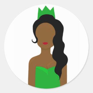 Frog princess round sticker