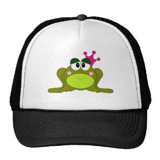 Frog Princess With Pink Crown Cartoon Trucker Hat