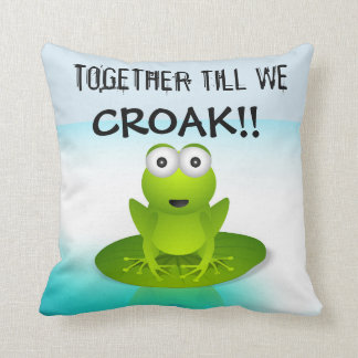 Frog products throw pillow