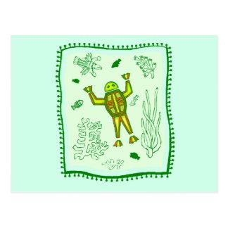 Frog Quilt Postcard