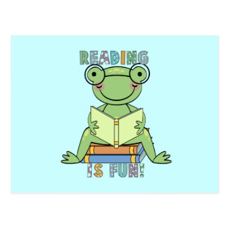 Frog - Reading is Fun Tshirts and Gifts Postcard