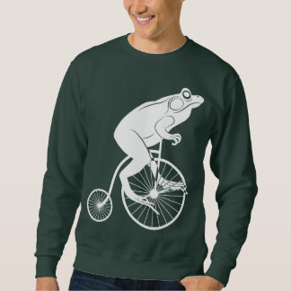 Frog Rider on Penny Farthing Bike Sweatshirt