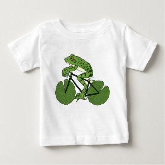 Frog Riding Bike With Lily Pad Wheels Baby T-Shirt