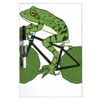 Frog Riding Bike With Lily Pad Wheels Dry Erase Board
