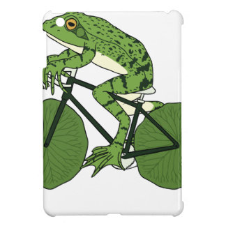 Frog Riding Bike With Lily Pad Wheels iPad Mini Covers