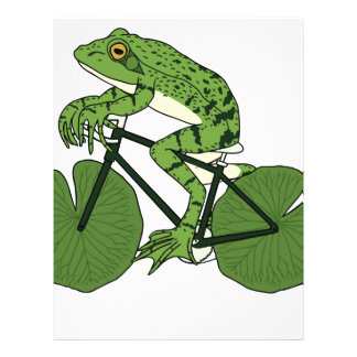 Frog Riding Bike With Lily Pad Wheels Letterhead