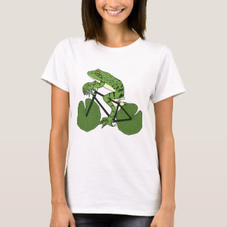 Frog Riding Bike With Lily Pad Wheels T-Shirt