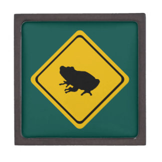 frog road sign premium keepsake boxes