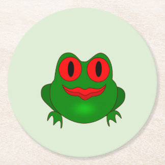 Frog Round Paper Coaster
