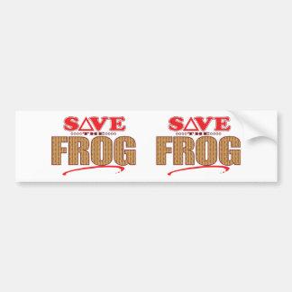 Frog Save Bumper Sticker