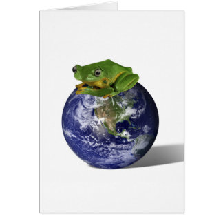 Frog Save The World Greeting Cards