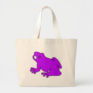 Frog Silhouette Froggy Jump Amphibians Hop Large Tote Bag