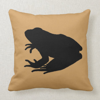 Frog Silhouette Throw Pillow
