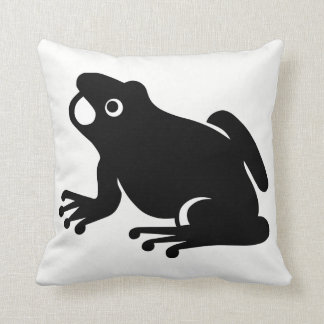 Frog Silhouette Throw Pillow