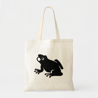 Frog Silhouette Tote Bag