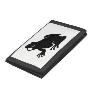 Frog Silhouette Tri-fold Wallet