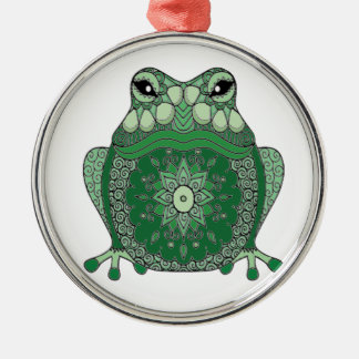 Frog Silver-Colored Round Ornament