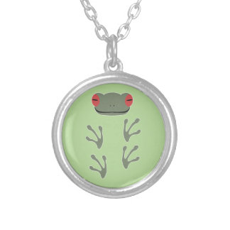 Frog Silver Plated Necklace