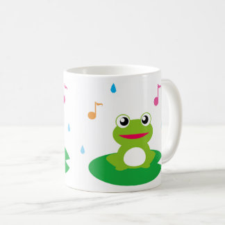 Frog singing ON the leaves Coffee Mug