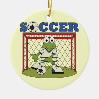Frog Soccer Goalie T-shirts and Gifts Ceramic Ornament