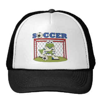 Frog Soccer Goalie Tshirts and Gifts Trucker Hat