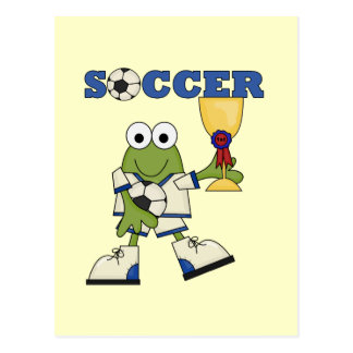 Frog Soccer Tshirts and Gifts Postcard