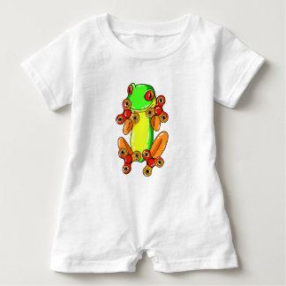 Frog spinner baby romper