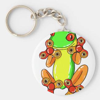 Frog spinner basic round button keychain