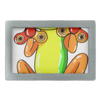 Frog spinner belt buckle