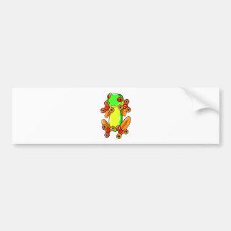 Frog spinner bumper sticker