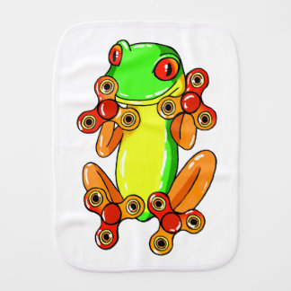 Frog spinner burp cloth