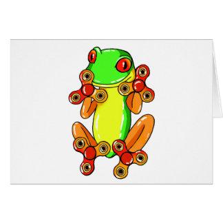 Frog spinner card