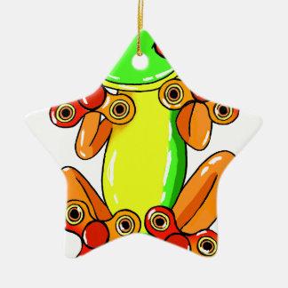 Frog spinner ceramic ornament