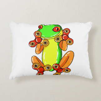 Frog spinner decorative pillow