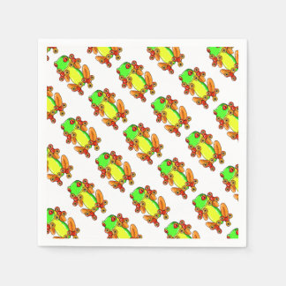 Frog spinner disposable napkins