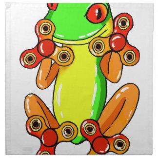 Frog spinner napkins