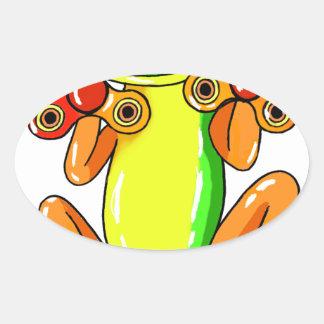 Frog spinner oval sticker