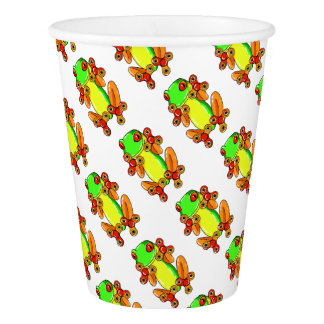 Frog spinner paper cup