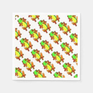 Frog spinner paper napkin