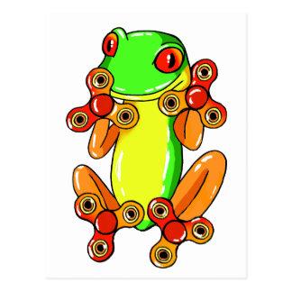 Frog spinner postcard