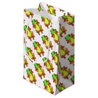 Frog spinner small gift bag