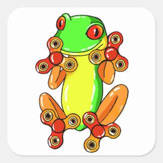 Frog spinner square sticker