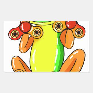 Frog spinner sticker