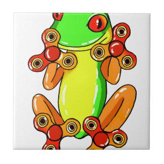 Frog spinner tile