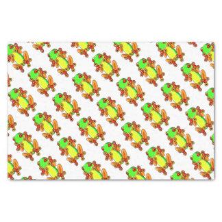 Frog spinner tissue paper